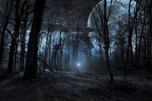Ghostly UFO Scene