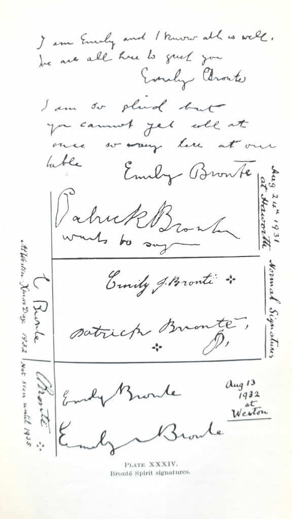 Plate XXXIV Brontë spirit signatures